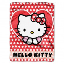 "Hello Kitty Silky Touch Fleece Throw (46"" X 60"")"