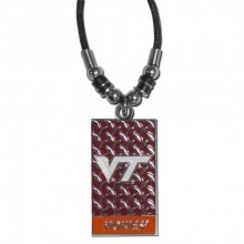 Virginia Tech Hoakies Diamond Plate Rope Necklace, 20-Inch