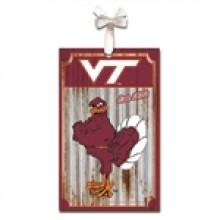 Virginia Tech Hokies Corrugated Metal Ornament