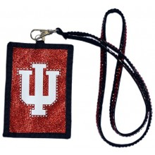 Indiana Hoosiers Beaded Lanyard I.D. Wallet