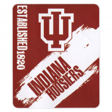 Indiana Hoosiers Established Fleece Throw Blanket