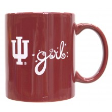 Indiana Hoosiers Team color Indiana Girl 12oz Mug