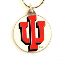 Indiana Hoosiers Oval Carved Metal Keychain
