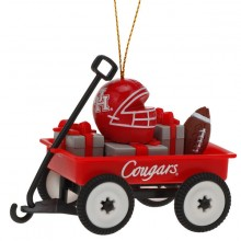 Houston Cougars Team Wagon Ornament
