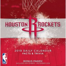 Houston Rockets 2019 Boxed Desk Calendar