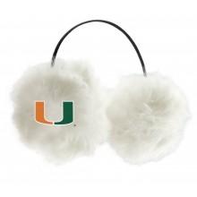 Miami Hurricanes Embroidered Faux Fur Team Logo Earmuffs Cheermuffs