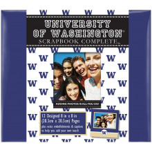 "Washington Huskies 8"" X 8"" Complete Scrapbook Kit"