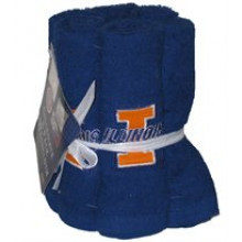 Illinois Fignting Illini 6 Pack Washcloth Set