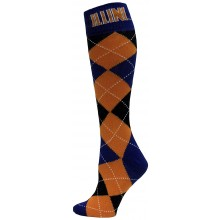 University of Illinois Illini Argyle Dress Socks