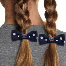 Illinois Fignting Illini Bow Pigtail Holder
