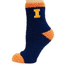 Illinios Fighting Illini Solid Fuzzy Lounge Socks