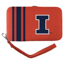 Illinois Fignting Illini Distressed Wallet Wristlet