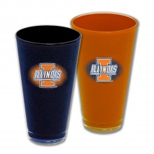 Illinois Fighting Illini 20-Ounce Home and Away Acrylic Tumbler Set