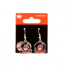 Cleveland Indians Bar Style Dangle Earrings