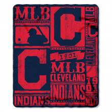 "Cleveland Indians 50"" x 60"" Established Fleece Throw Blanket"