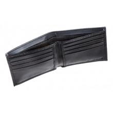Auburn Tigers Bi-Fold Black Leather Wallet