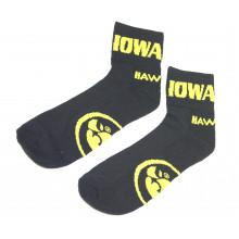 Iowa Hawkeyes Black Quarter Socks