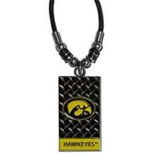 Iowa Hawkeyes Diamond Plate Rope Necklace, 20-Inch