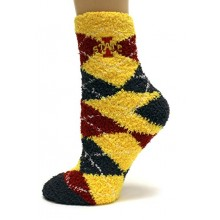 Iowa State Cyclones Argyle Fuzzy Lounge Socks