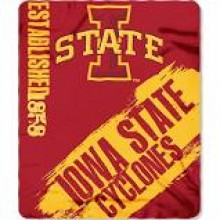 Iowa State Cyclones Established Fleece Throw Blanket