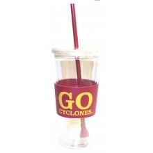 "Iowa State Cyclones ""Go Cyclones"" 22 oz Slogan Tumbler"