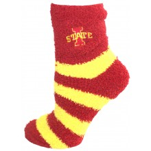 Iowa Cyclones Striped Fuzzy Lounge Socks