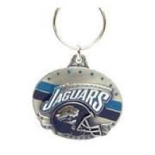 Jacksonville Jaguars Oval Carved Metal Keychain