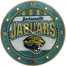 Jacksonville Jaguars Art Glass Clock