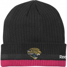 NFL Licensed Jacksonville Jaguars Breast Cancer Awareness Knit Beanie