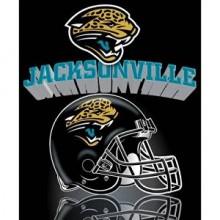 """Jacksonville Jaguars 50"""" x 60"""" Gridiron Fleece Throw Blanket"""