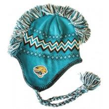 NFL Licensed Jacksonville Jaguars Team Colors Mohawks Braid Beanie Hat