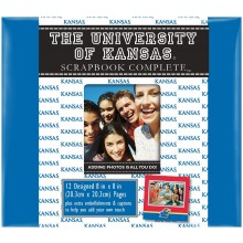 "Kansas Jayhawks 8"" X 8"" Complete Scrapbook Kit"