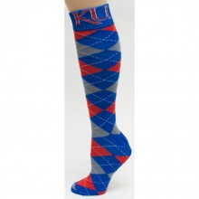 Kansas Jayhawks Arygle Dress Socks