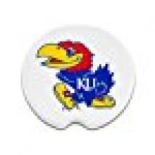 Kansas Jayhawks Ceramic Car Coasters (2 Pack)