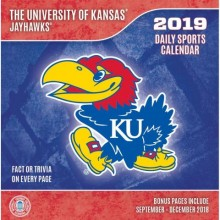 Kansas Jayhawks 2019 Boxed Desk Calendar