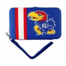"Kansas Jayhawks Distressed Wallet Wristlet Case (3.5"" X .5"" X 6"")"