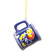 Kansas Jayhawks Ceramic Mini Mug Ornament