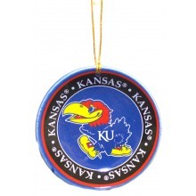 Kansas Jayhawks Ceramic Mini Plate Ornament