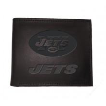 New York Jets Black Leather Bi-Fold Wallet