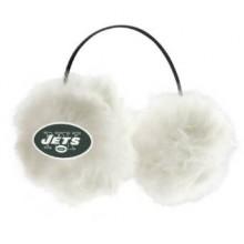 New York Jets Embroidered Faux Fur Team Logo Earmuffs Cheermuffs
