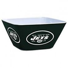 New York Jets Solid Melamine Square Bowl, 4.5-Quart