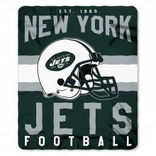 "New York Jets 50"" x 60"" Singular Fleece Throw Blanket"