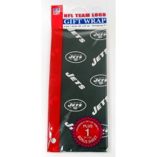 New York Jets  Gift Wrap Sheets 12.5 sq. ft.