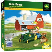 John Deere Little Handyman - Kid with Play Tractor 1000 Piece Jigsaw Puzzle by Donald Zoland