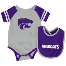 Kansas State Wildcats Colosseum Infant Bib and Bodysuit Set (0-3 Months)