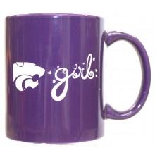 Kansas State Wildcats Team Color K State 12oz Mug