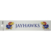 "Kansas Jayhawks 2"" X 10"" Bumper Sticker"