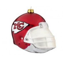 Kansas City Chiefs Blown Glass Team Helmet Ornament