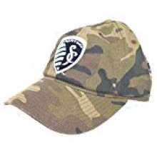 Kansas City Sporting Slouch Camouflage Adjustable Hat