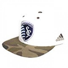 Kansas City Sporting White & Camouflage Adjustable Hat
